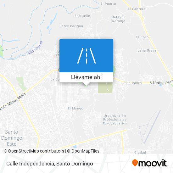 Mapa de Calle Independencia