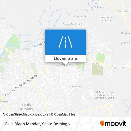 Mapa de Calle Diego Mendez