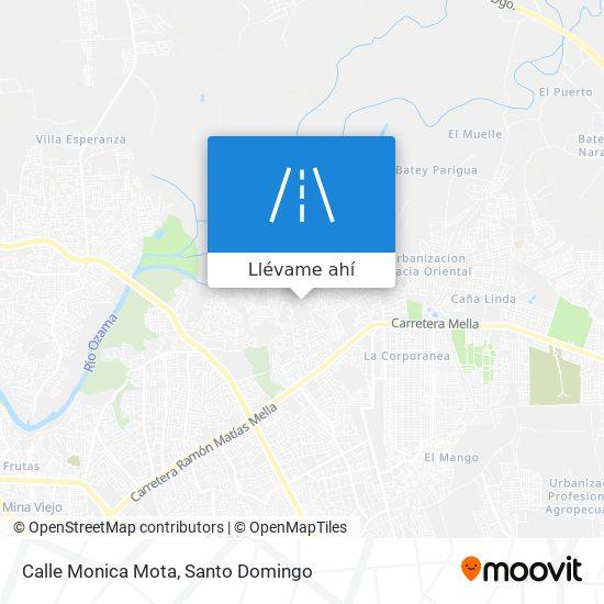 Mapa de Calle Monica Mota