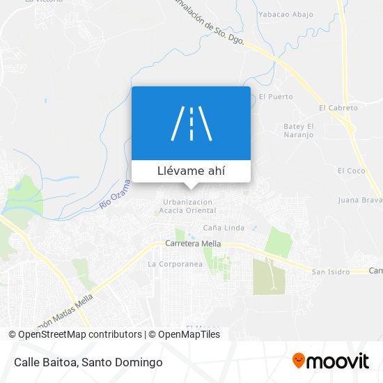 Mapa de Calle Baitoa