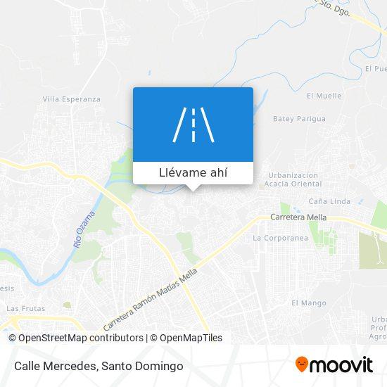 Mapa de Calle Mercedes
