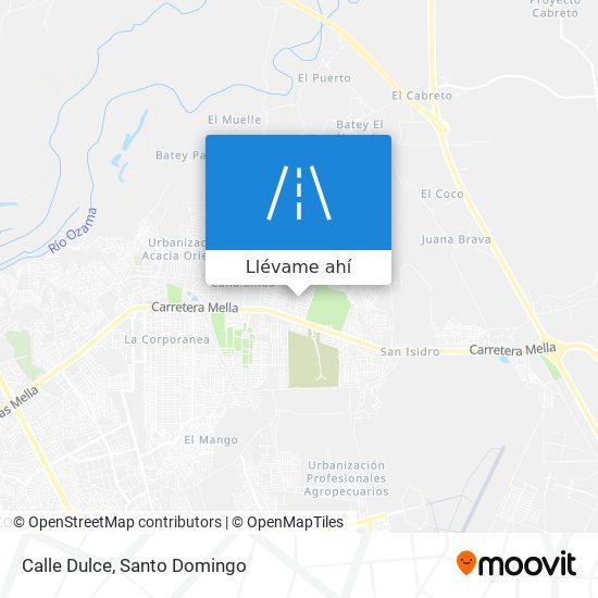 Mapa de Calle Dulce