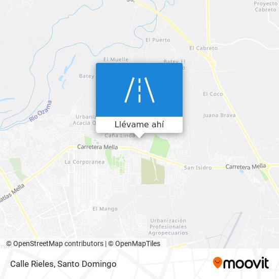Mapa de Calle Rieles