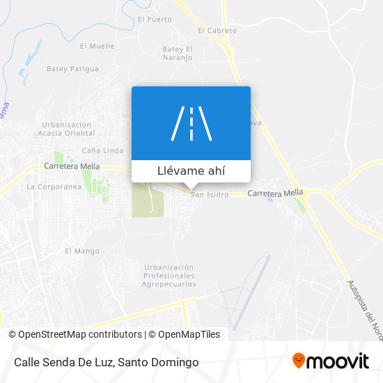 Mapa de Calle Senda De Luz