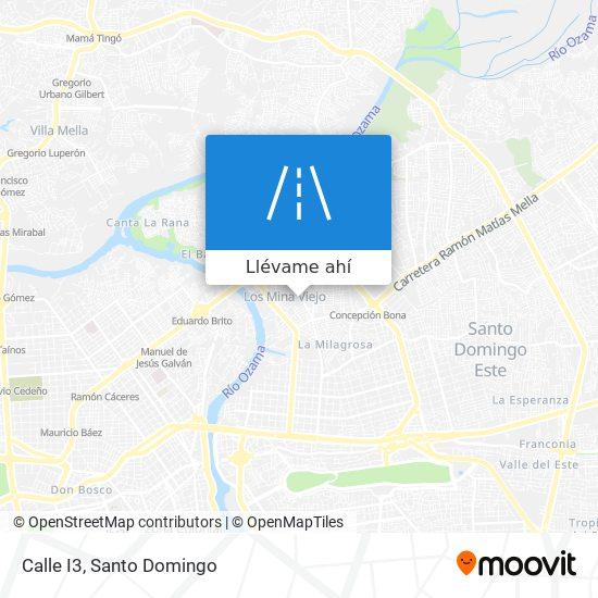 Mapa de Calle I3