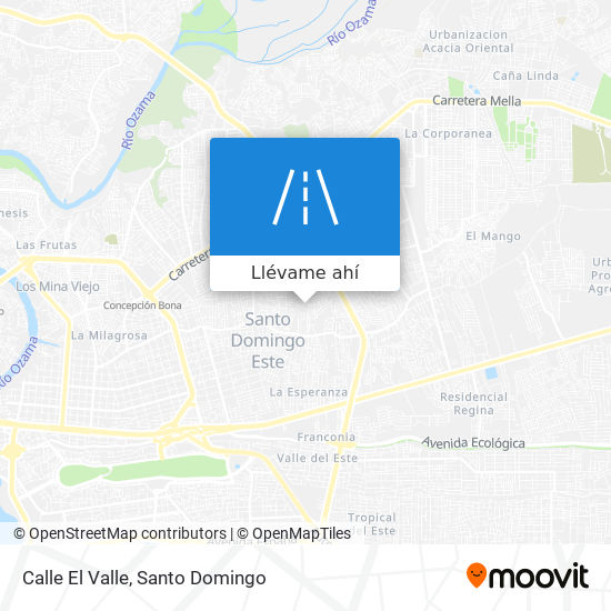 Mapa de Calle El Valle