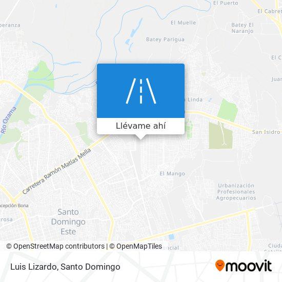 Mapa de Luis Lizardo