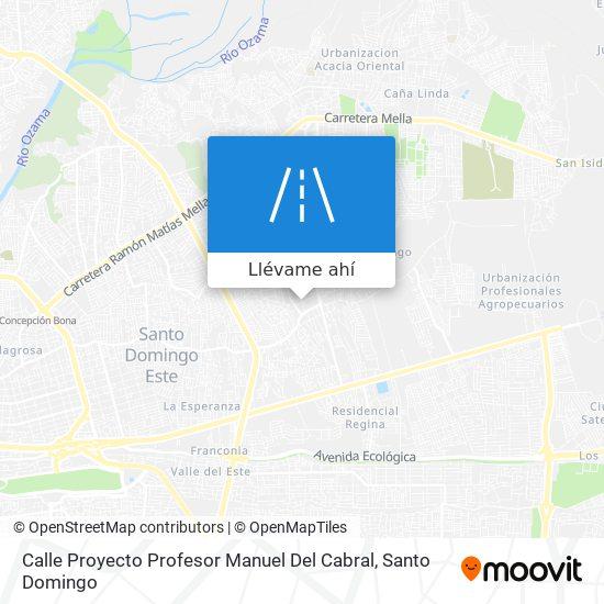Mapa de Calle Proyecto Profesor Manuel Del Cabral