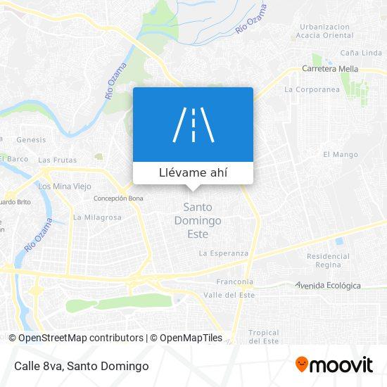 Mapa de Calle 8va