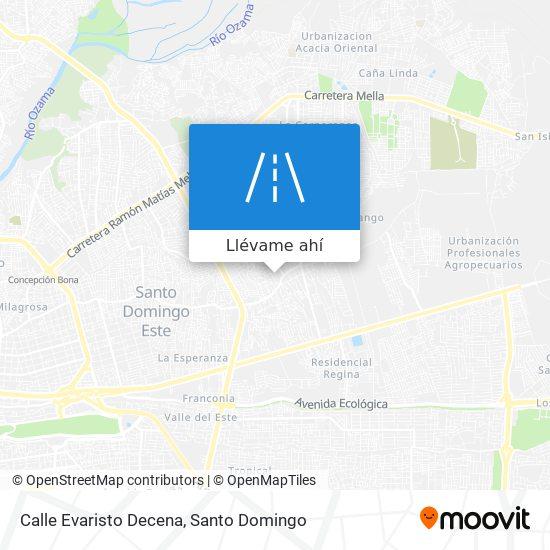 Mapa de Calle Evaristo Decena
