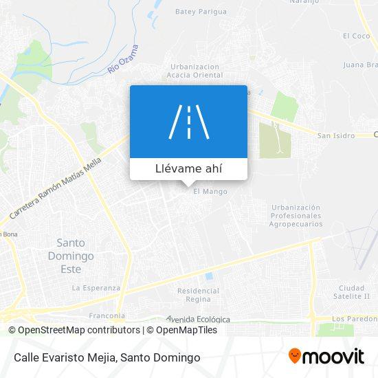 Mapa de Calle Evaristo Mejia