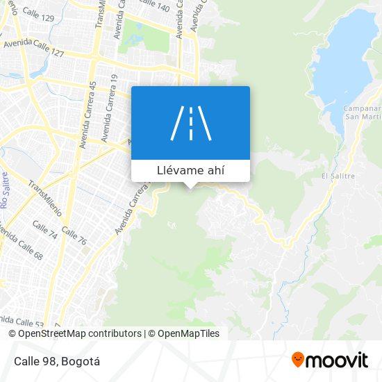 Mapa de Calle 98