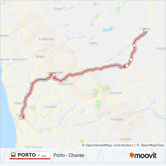 Porto Chaves Route Time Schedules Stops Maps Porto