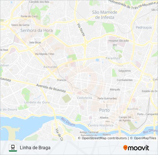 Rota L Braga Horarios Paragens E Mapas Braga Famalicao