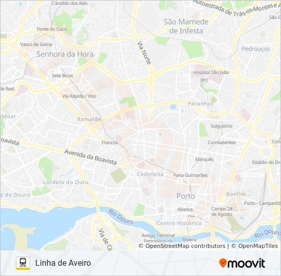 L Aveiro Route Time Schedules Stops Maps Aveiro Porto