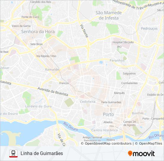 Porto Portugal Karte.Linie L Guimaraes Fahrplane Haltestelle Karten
