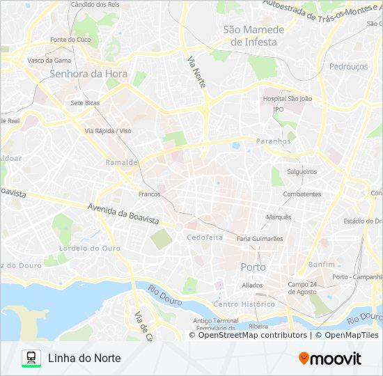 Norte De Portugal Mapa.Rota L Norte Horarios Paragens E Mapas Porto Lisboa