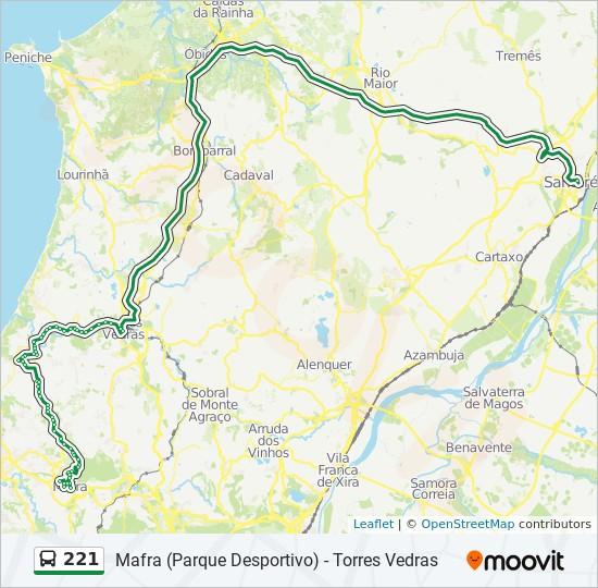 Rota 221 Horarios Paragens E Mapas Mafra