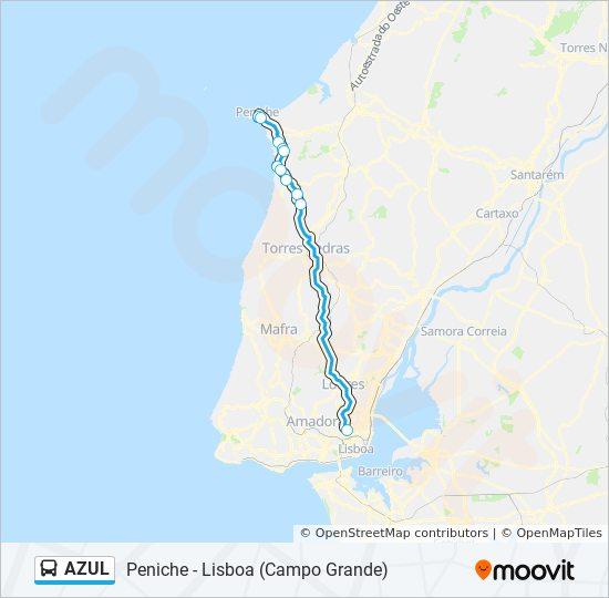 Rota Azul Horarios Paragens E Mapas Peniche