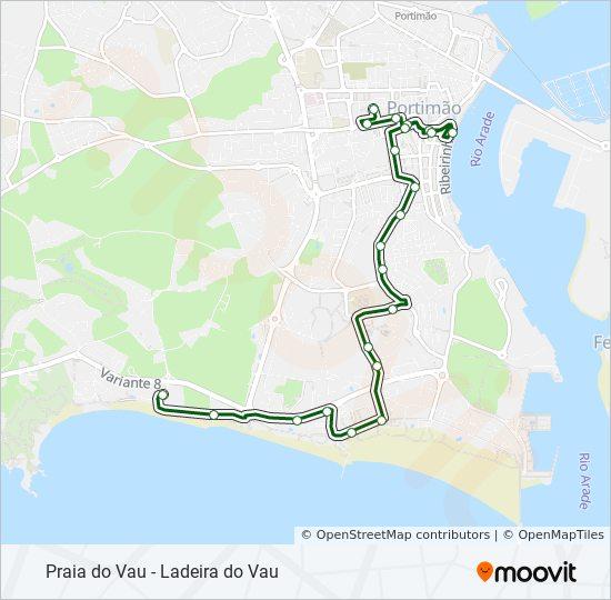 Rota 35 Horarios Paragens E Mapas Praia Do Vau R Das Hortas
