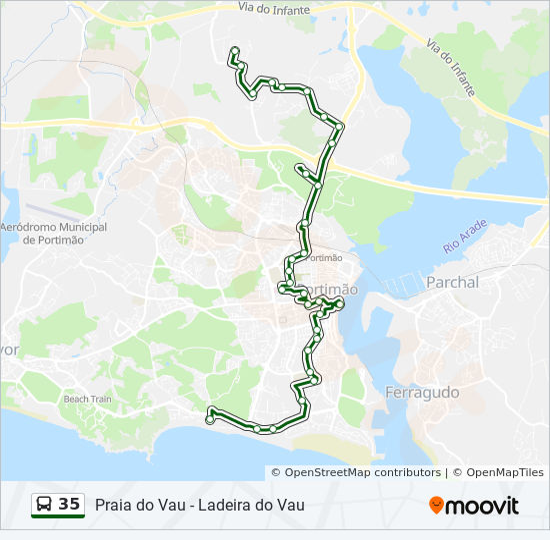 Rota 35 Horarios Paragens E Mapas Praia Do Vau Ladeira Do Vau