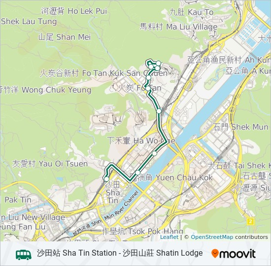 62K bus Line Map