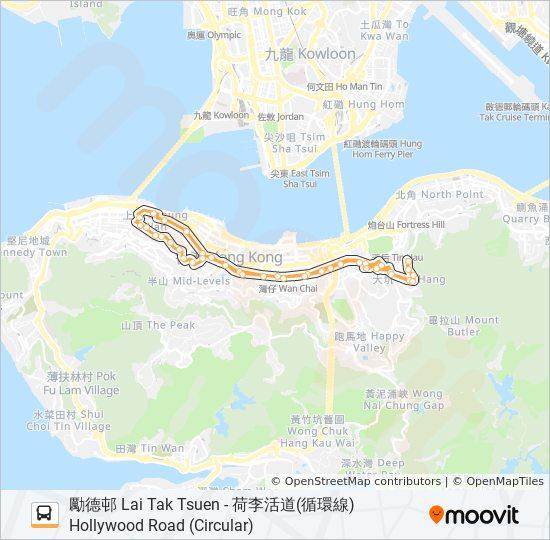 26 bus Line Map