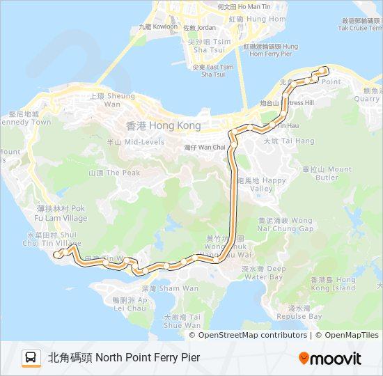 42 bus Line Map