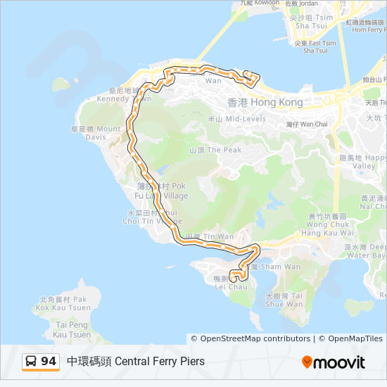 94 bus Line Map