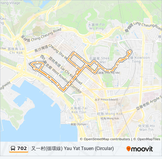 702 bus Line Map