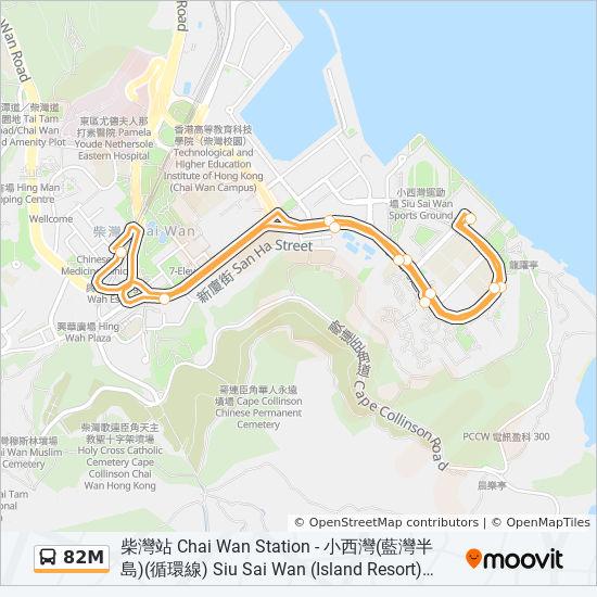 82M bus Line Map