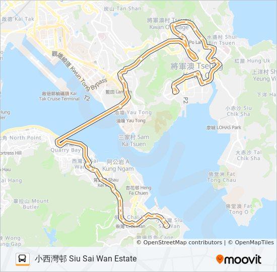 694 bus Line Map