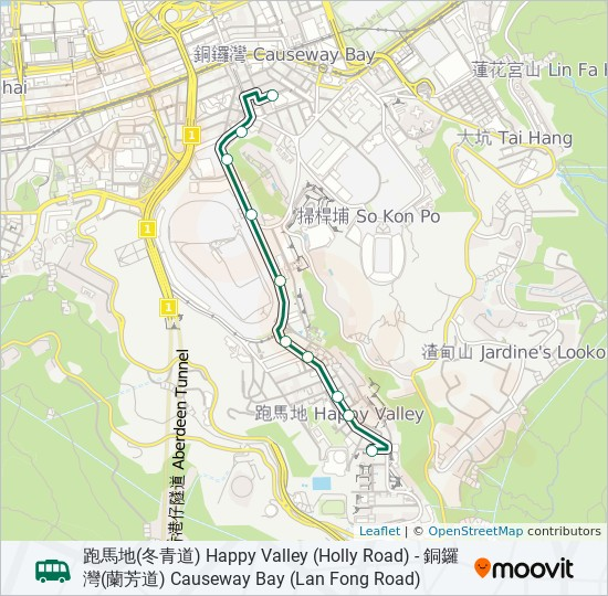 30 Route Time Schedules Stops Amp Maps 跑馬地 冬青道 Happy