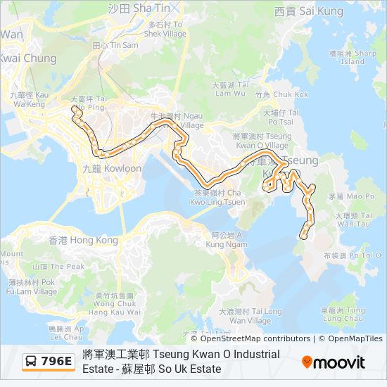 796E bus Line Map