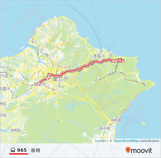 965 Route Time Schedules Stops Amp Maps 板橋