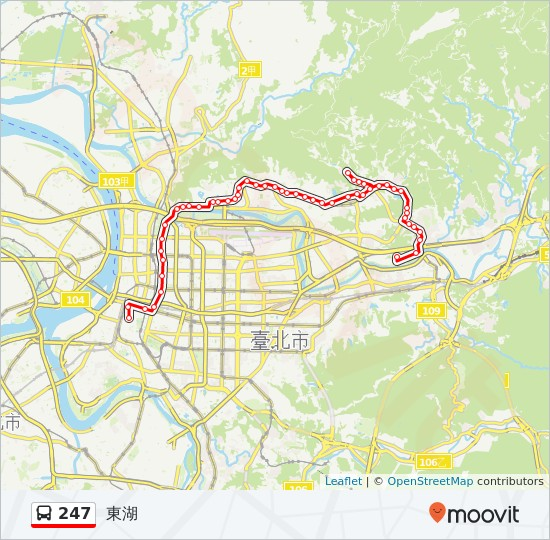 247 Route Time Schedules Stops Amp Maps 東湖
