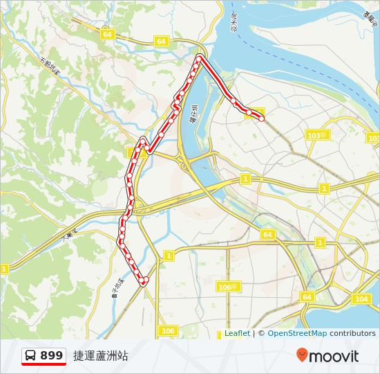 899 Route: Time Schedules, Stops & Maps - 捷運蘆洲站