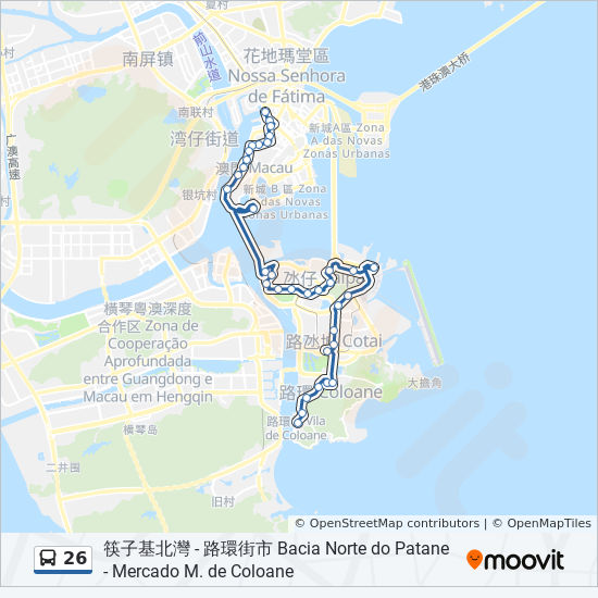 26 bus Line Map