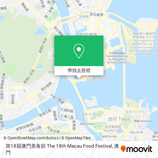 第18屆澳門美食節 The 18th Macau Food Festival地圖