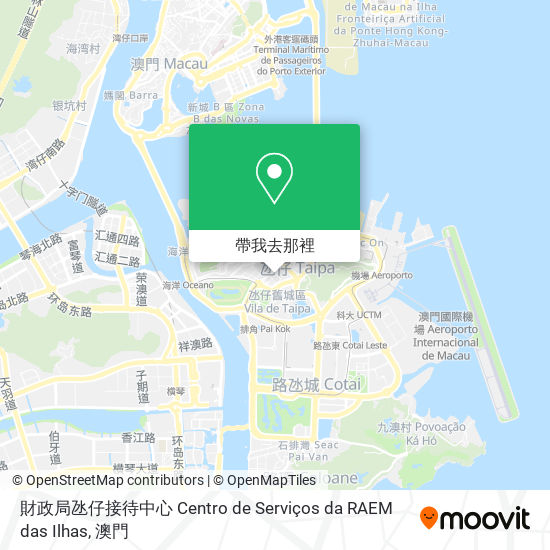 財政局氹仔接待中心 Centro de Serviços da RAEM das Ilhas地圖