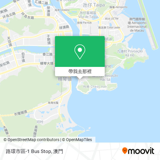 路環市區-1 Bus Stop地圖
