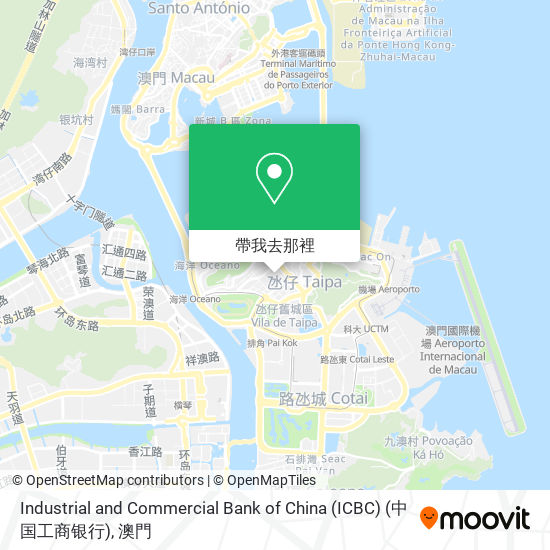 Industrial and Commercial Bank of China (ICBC) (中国工商银行)地圖