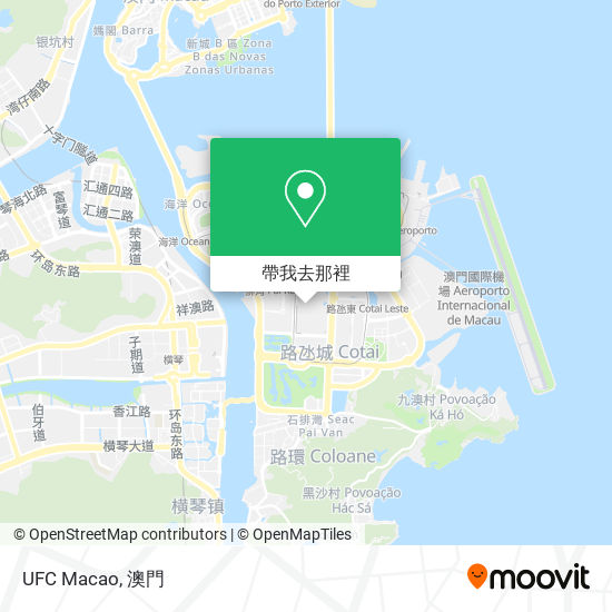 UFC Macao地圖