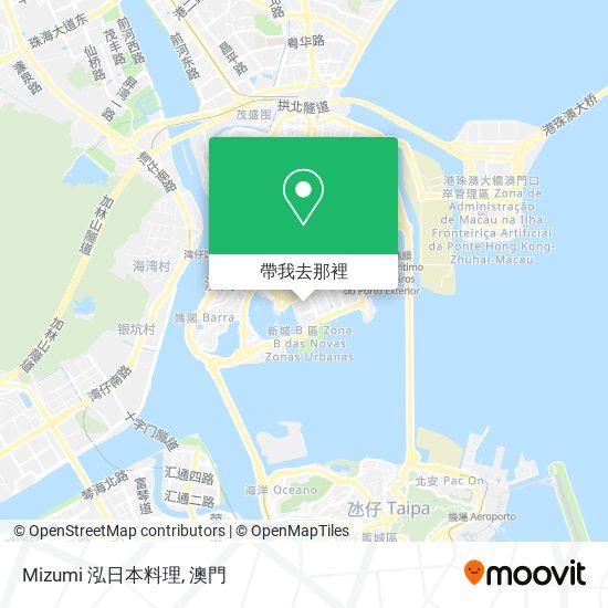 Mizumi 泓日本料理地圖