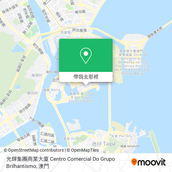 光輝集團商業大廈 Centro Comercial Do Grupo Brilhantismo地圖