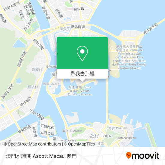 澳門雅詩閣 Ascott Macau地圖
