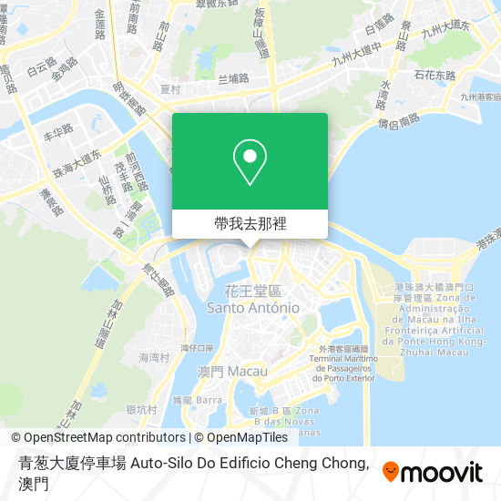 青葱大廈停車場 Auto-Silo Do Edificio Cheng Chong地圖