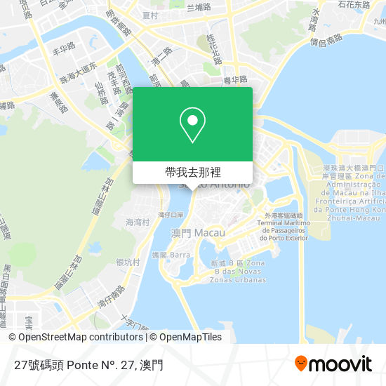 27號碼頭 Ponte Nº. 27地圖