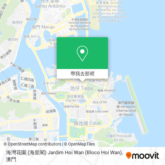 海灣花園 (海皇閣) Jardim Hoi Wan (Bloco Hoi Wan)地圖