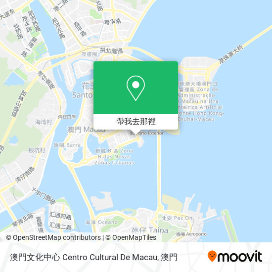 澳門文化中心 Centro Cultural De Macau地圖